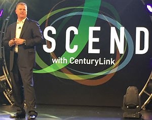 SI Alliance VP Dave Dyas on stage at CenturyLink Ascend, Feb. 23, 2017, in San Diego.
