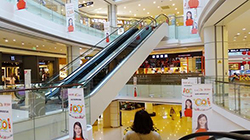 The six-story Link City Shopping Mall in Suzhou, China, offers a variety of local and western retail brands.