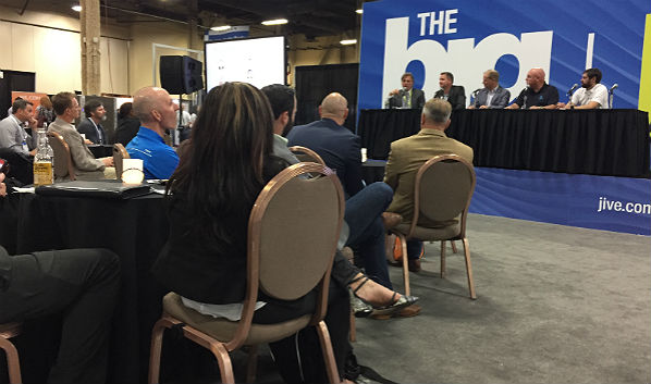 The Channel Partners Expo Hall: The Jive BIG Stage