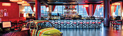 The lounge bar at the Kerasotes ShowPlace ICON at Roosevelt Collection in Chicago. Photo credit: Graycor Construction