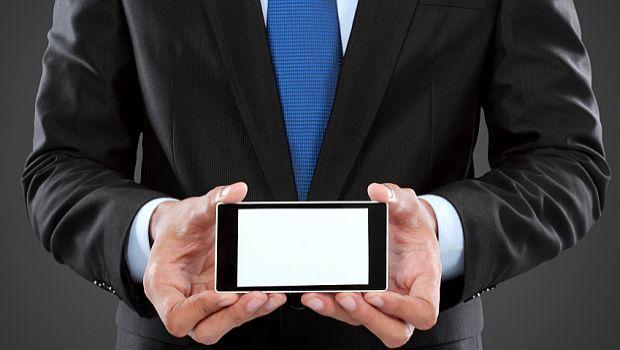 Smartphone businessman