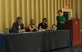 Education session panelists discuss smart ways to partner with fellow solution providers.