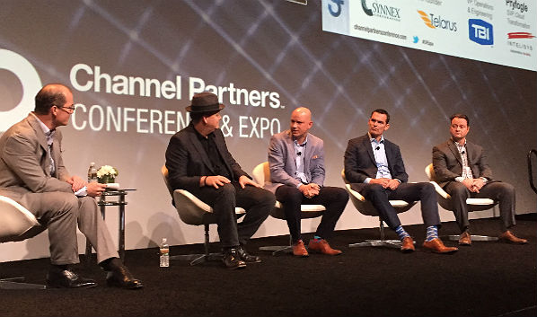 On Stage at Channel Partners: Masters and Distributors