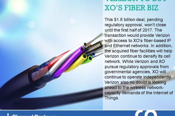 Big M&A: Verizon to Buy XO's Fiber Biz