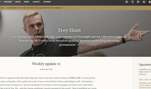 10 Security Blogs: Troy Hunt