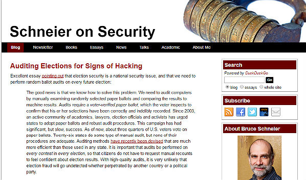 10 Security Blogs: Schneier on Security