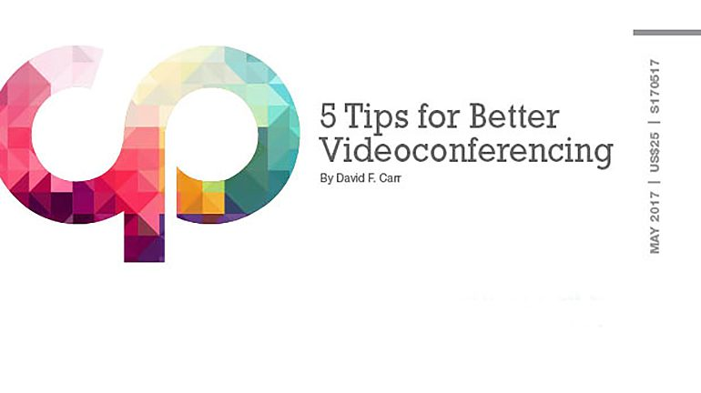 5 Tips for Better Videoconferencing