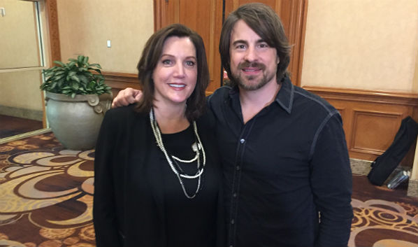 On Stage at Channel Partners: Verizon's Janet Schijns and Country Star Jimmy Wayne