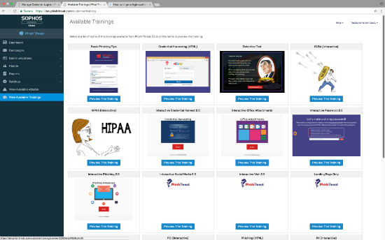 Sophos phishing protection