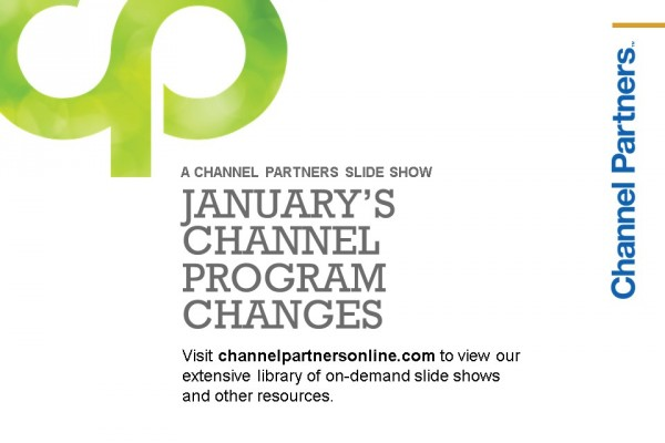 January's Channel Program Changes: Visit the Channel Partners Home Page