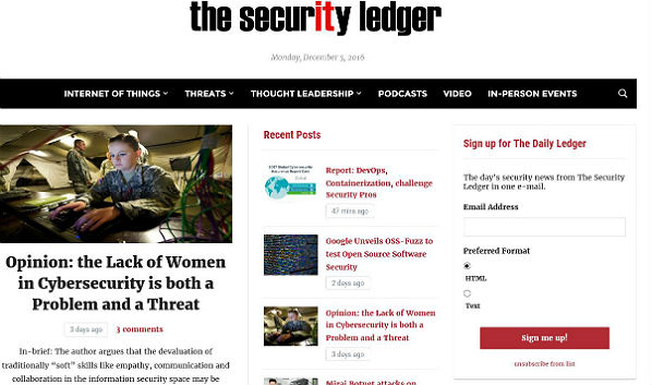 10 Security Blogs: The Security Ledger