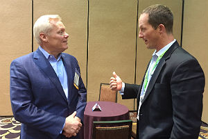 Windstream's Jeff Howe (left) and Olen Scott