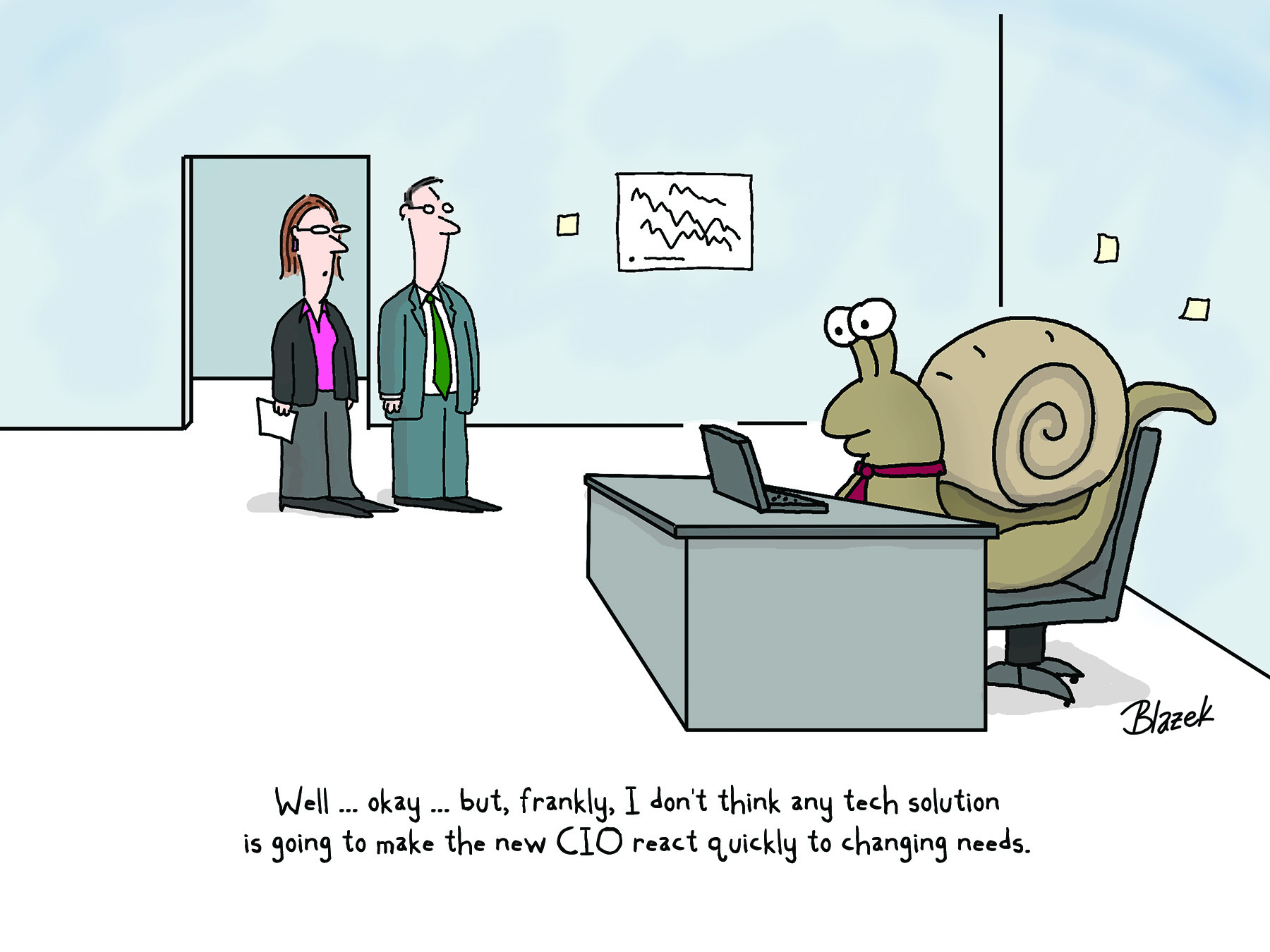 Cartoon Digital Transformation Can Be Slow