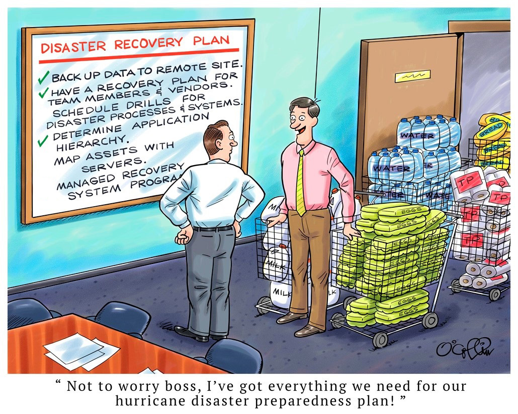 Sungard AS Cartoon on Disaster Recovery Planning
