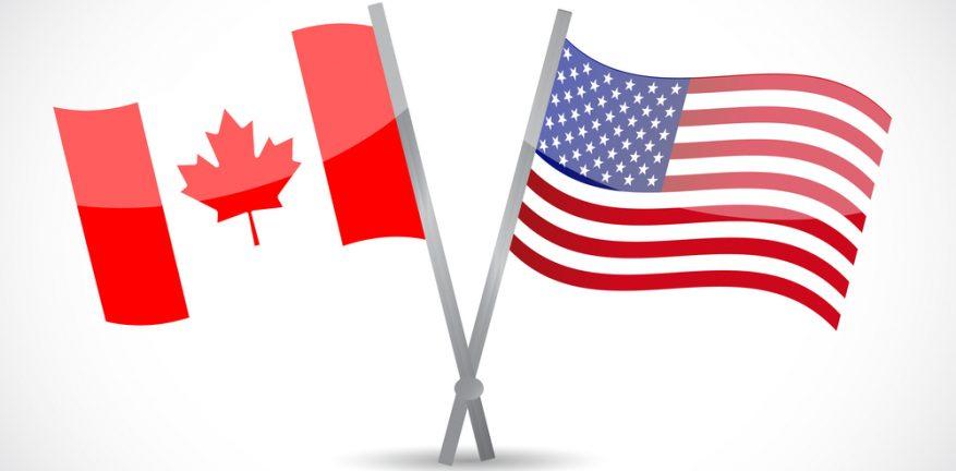 U.S.-Canada Flags