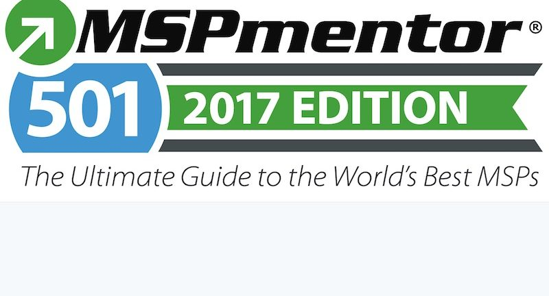 MSPmentor 501 2017 North America Rankings 50 to 1