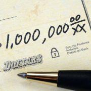 Million dollars - check amount