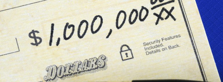 Million dollars - check amount
