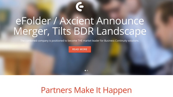 Work Starts to Combine eFolder Axcient Into Business Continuity Giant
