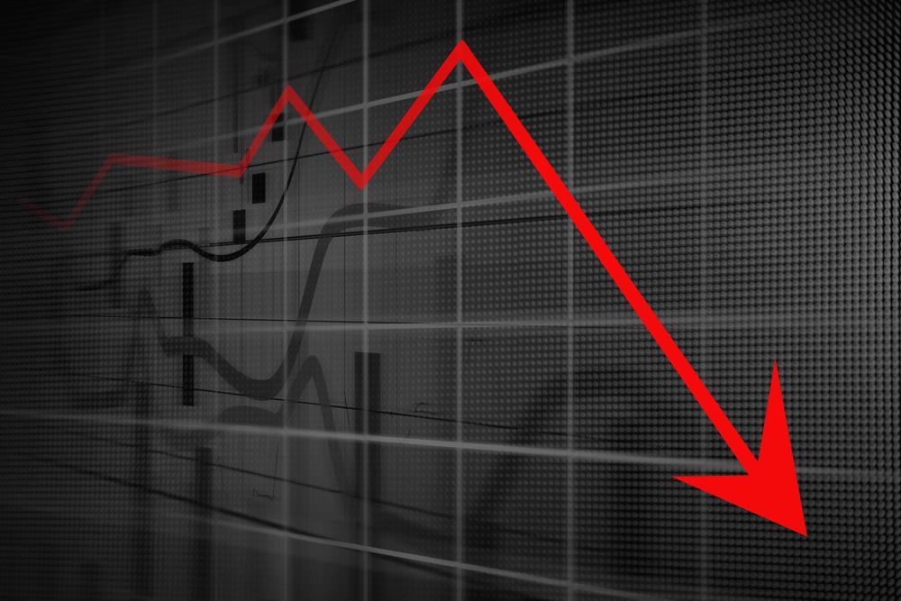 Declining graph