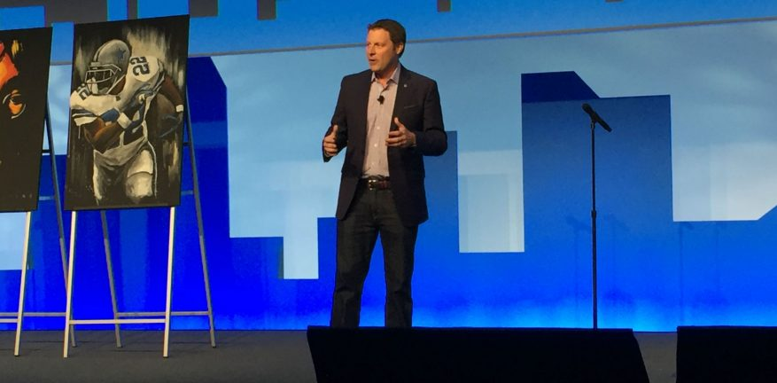 Randall Porter on stage at AT&T Partner Exchange Summit 2017