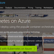 Kubernetes on Azure Homepage Screenshot