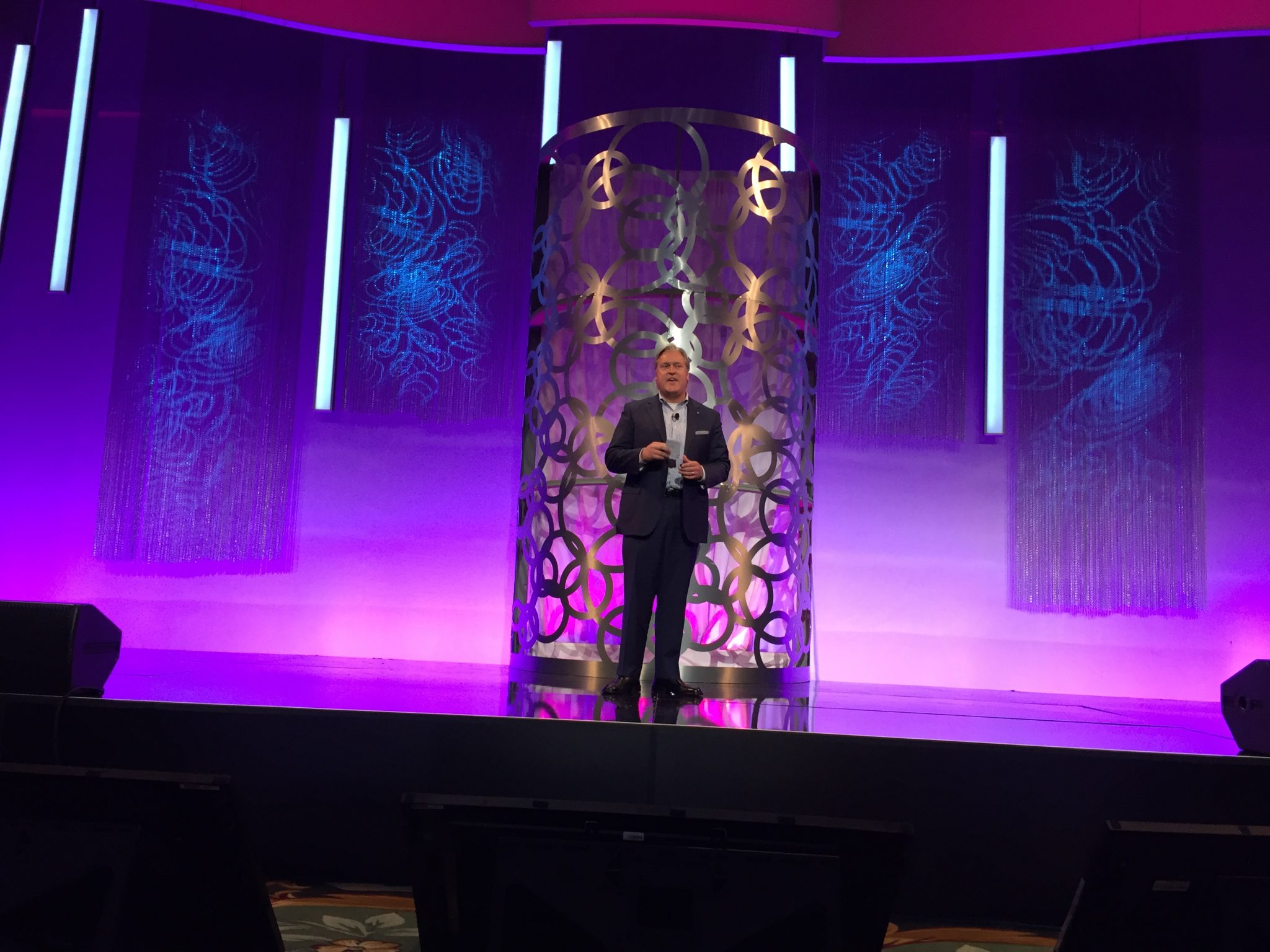 Extreme Networks' Norman Rice III at the company's Global Partner Conference 2017