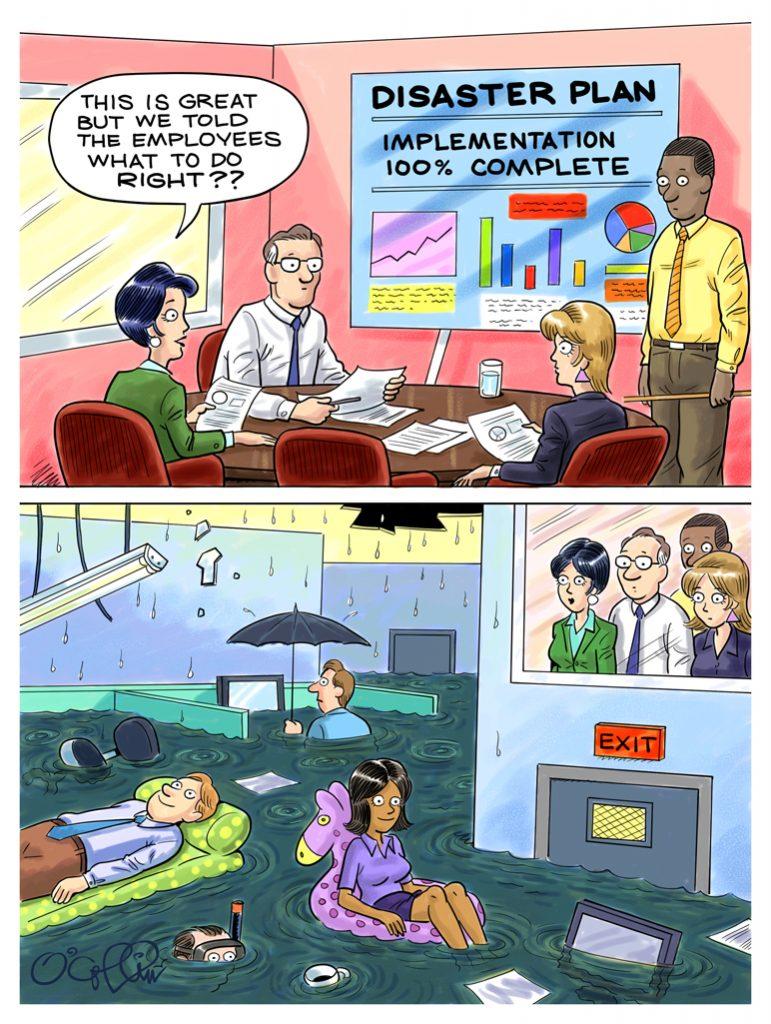 Sungard AS DR Cartoon