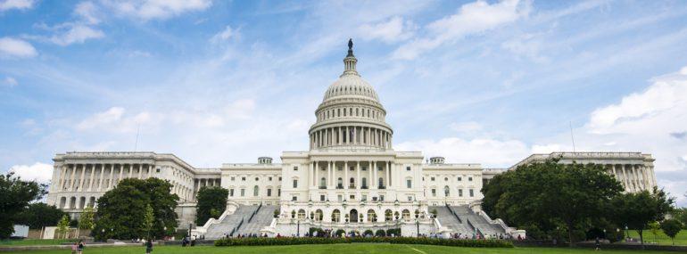 U.S. Capitol with Clouds