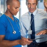 Medical persons confer