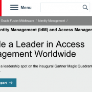 Oracle Identity Manager screenshot