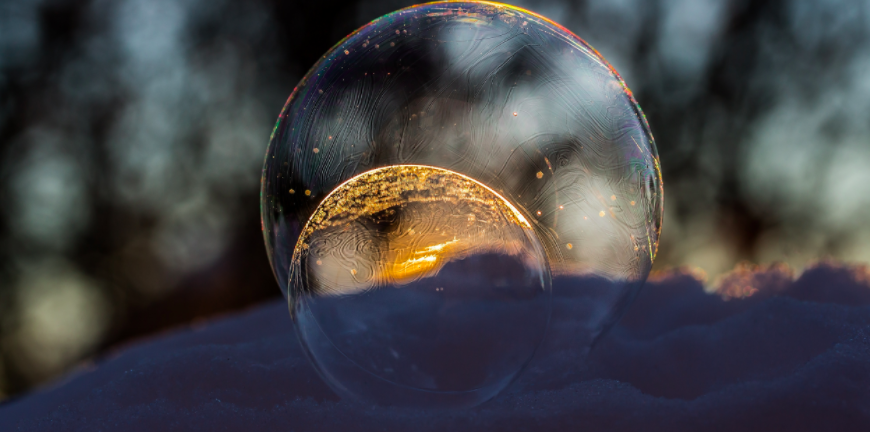 Crystal ball in nature