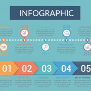 Infographic icon highlighting data via colorful images