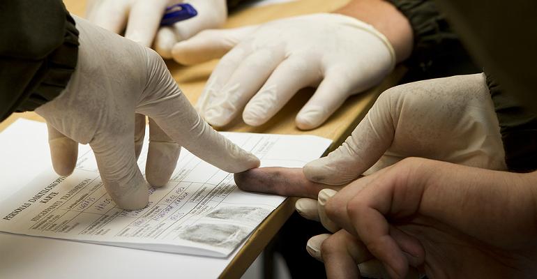 Fingerprinting, arrest