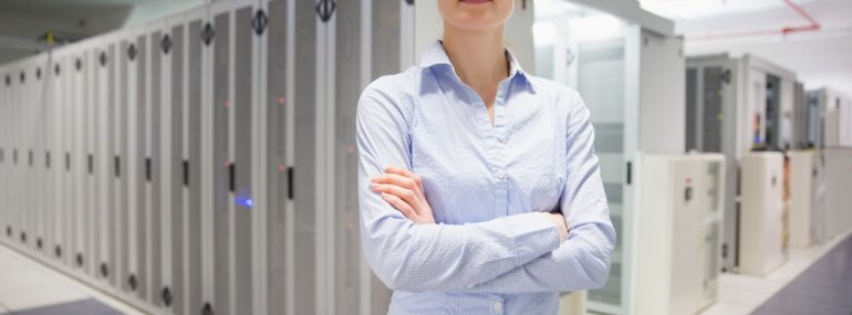 Data Center Woman
