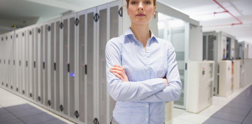 Data Center Woman
