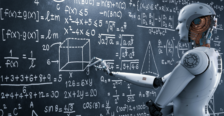 Artificial intelligence (AI) robot solving problems