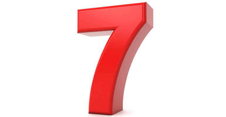 Number seven (7)