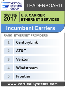 VSG Carrier Ethernet Leaderboard 2017