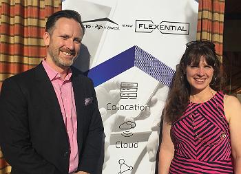 Flexential's Pat Doherty and Tamara Prazak