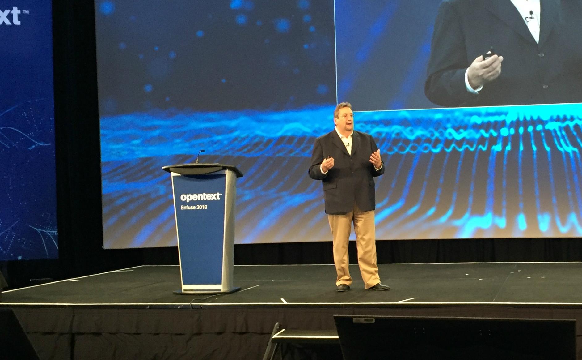 OpenText CEO Mark Barranechea at Enfuse 2018