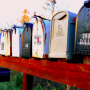 Mailboxes in a row
