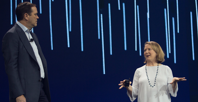 Cisco's Chuck Robbins and Google's Diane Greene at Cisco Live 2018