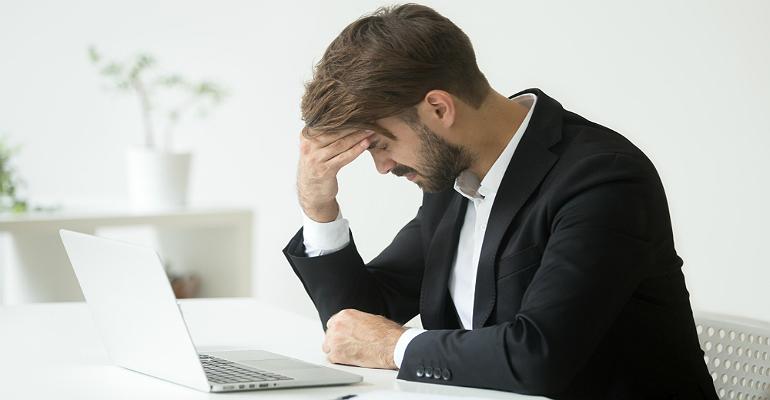 Business mistake, headache