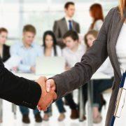 Handshake-male and female