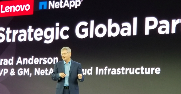 NetApp's Brad Anderson at Lenovo Transform 2