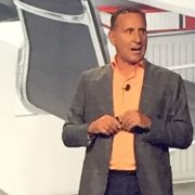 Continuum CEO Michael George on stage at Navigate 2018, Sept. 26.