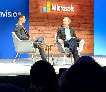 Trevor Noah and Brad Smith at Microsoft Ignite 2018