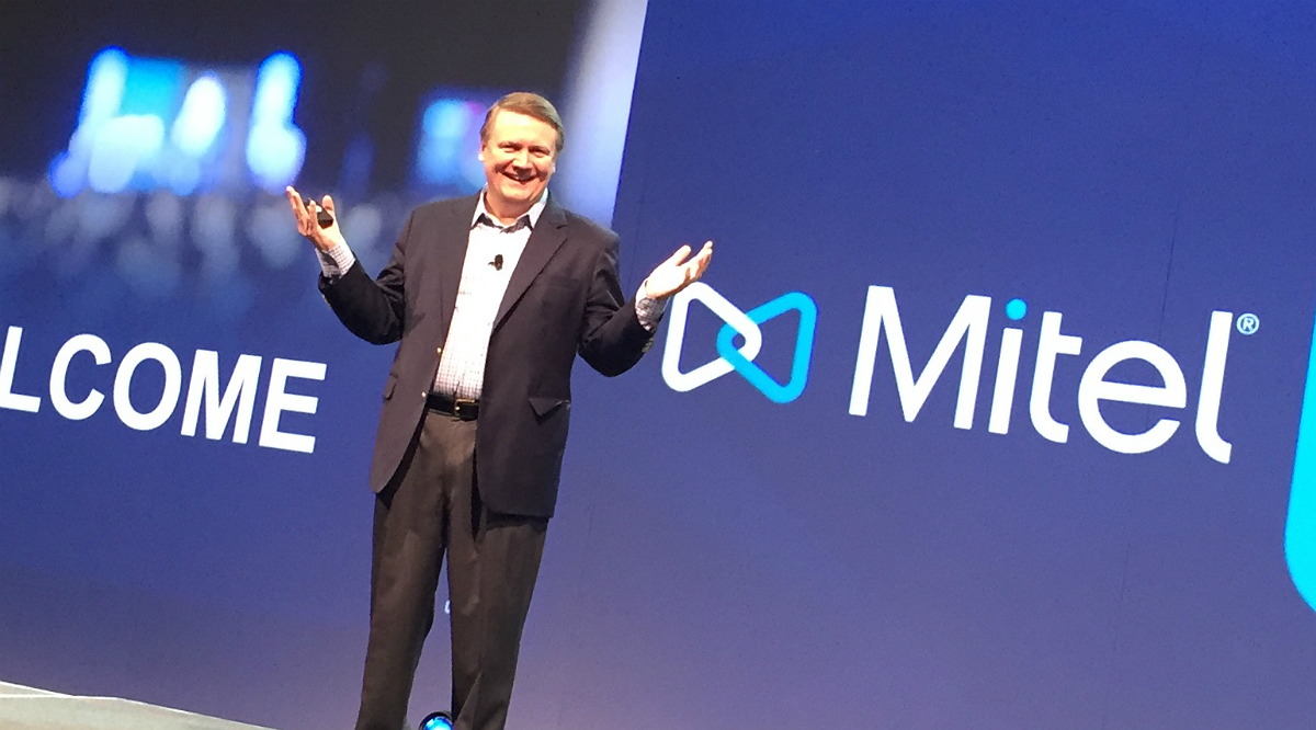 Mitel's Rich McBee at Mitel Next in Phoenix, 2018