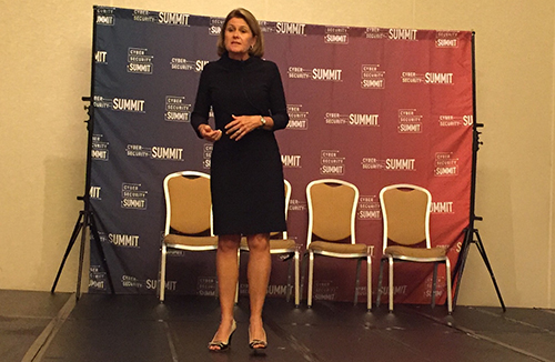 Achieve Unite's Nancy Reynolds opened the Datto Cybersecurity Summit.